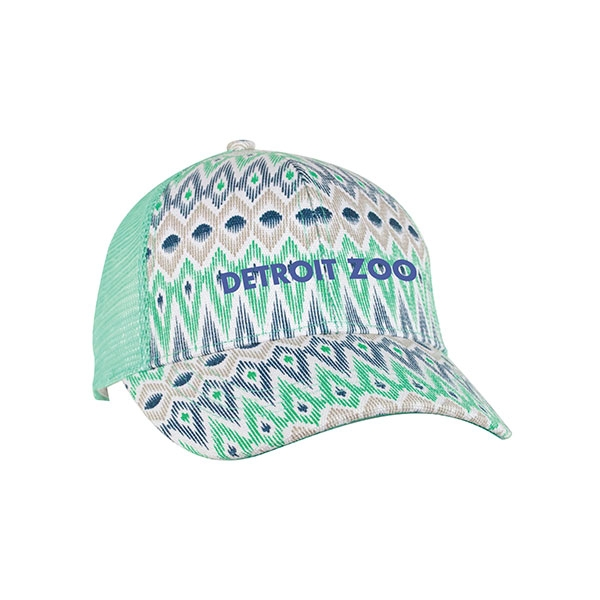 ADULT LADIES BASEBALL HAT PRINT TRUCK OPAL
