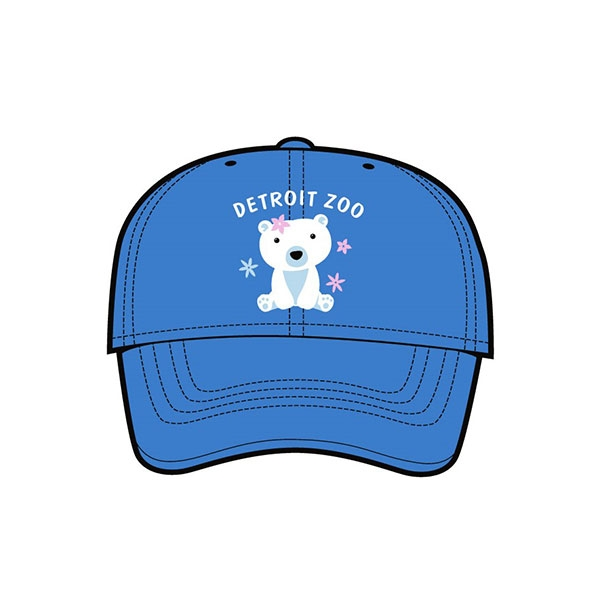 YOUTH BASEBALL HAT POLAR BEAR SWEETEST BLUE