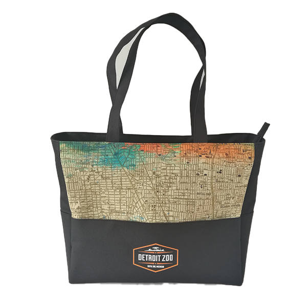 DETROIT ZOO MAP TOTE BAG