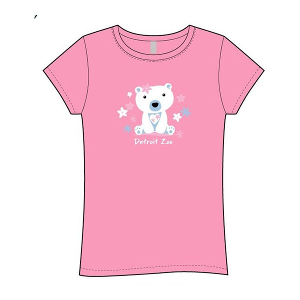 YOUTH SHORT SLEEVE GIRLS POLAR BEAR SWEETEST SHELL PINK