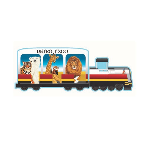 DETROIT ZOO TRAIN MAGNET