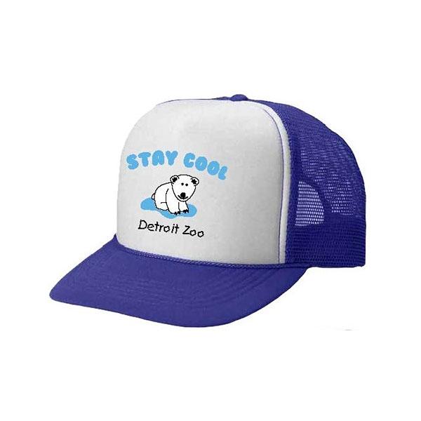 TODDLER BASEBALL HAT POLAR BEAR STAY COOL ROYAL