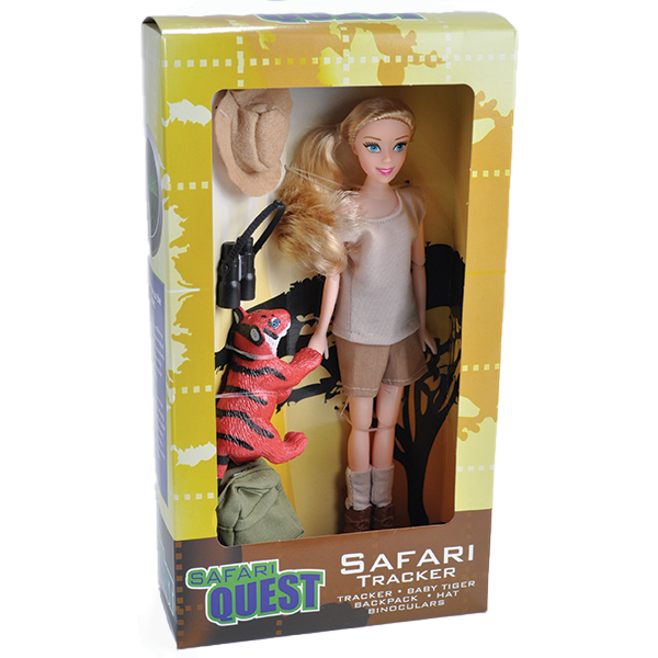 SAFARI DOLL WITH TIGER