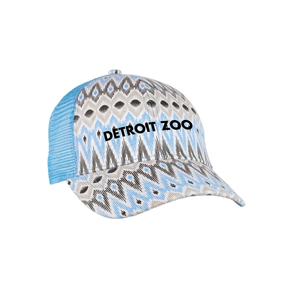 ADULT LADIES BASEBALL HAT PRINT TRUCK PROVENTIAL BLUE