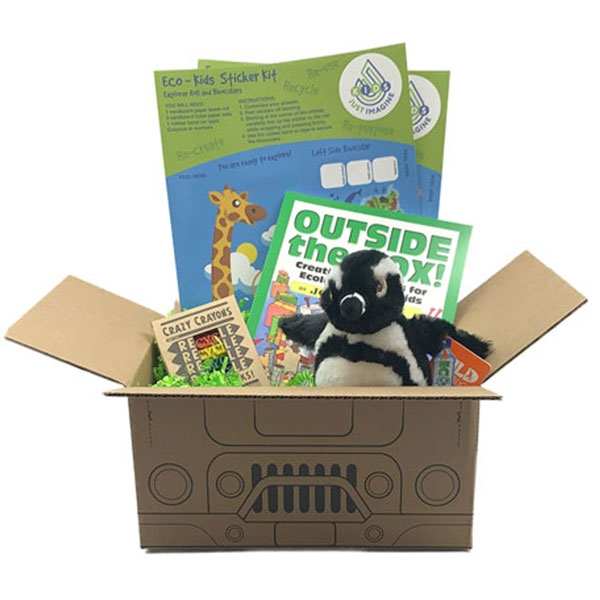 Just Imagine Upcycled African Black Footed Penguin Plush Box