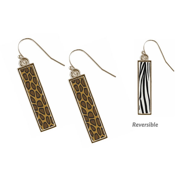 SAFARI REVERSIBLE BAR EARRINGS
