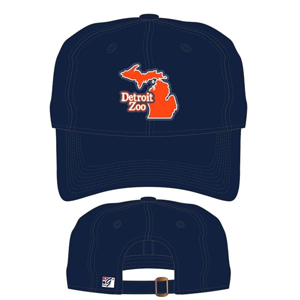 ADULT BASEBALL HAT DETROIT ZOO STATE NAVY
