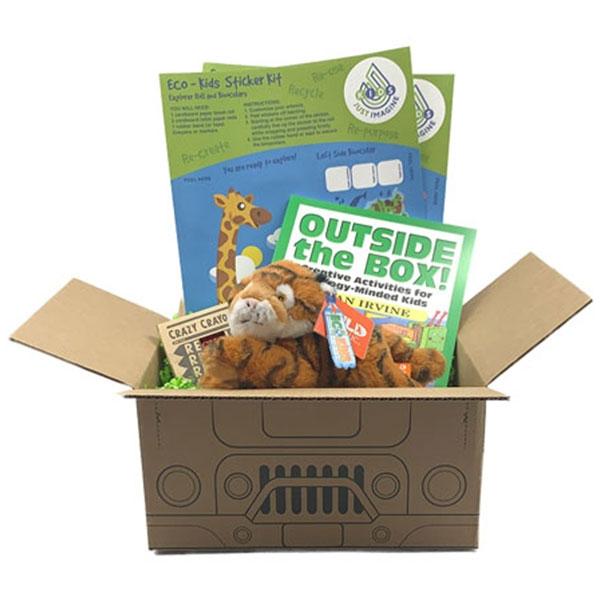 Just Imagine Upcycled Tiger Plush Box