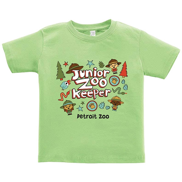 TODDLER SHORT SLEEVE JUNIOR ZOOKEEPER KEYLIME