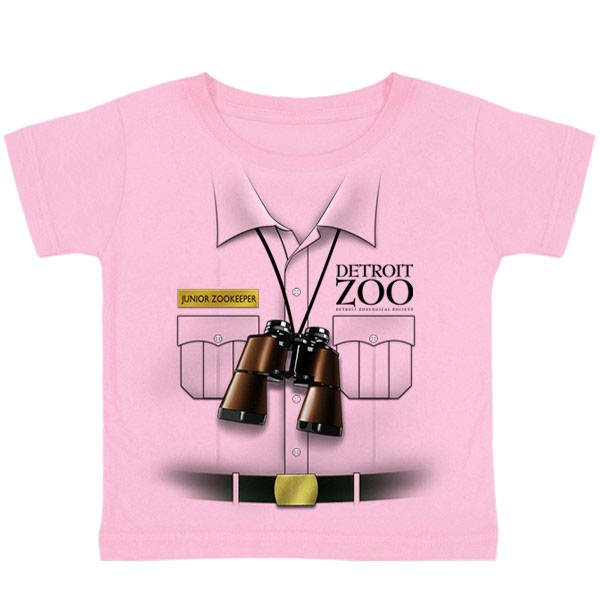TODDLER SHORT SLEEVE JUNIOR ZOOKEEPER PINK