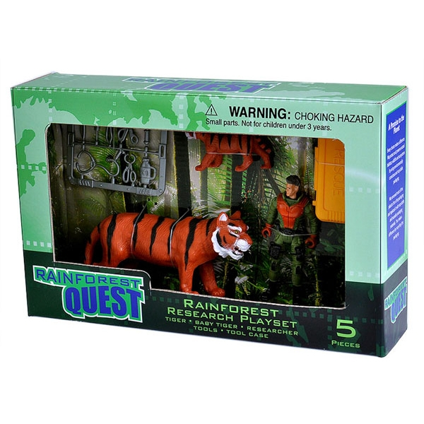 RAINFOREST QUEST TIGER PLAYSET