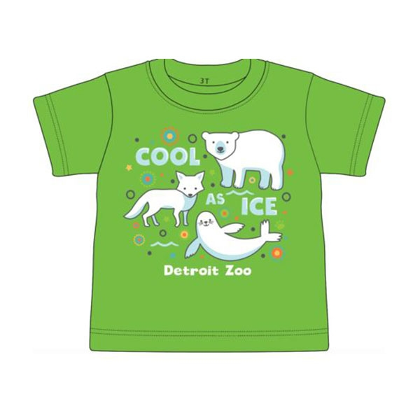 TODDLER SHORT SLEEVE COOL AS ICE POLAR BEAR APPLE