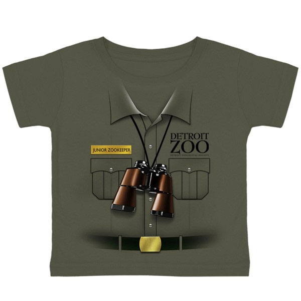 TODDLER SHORT SLEEVE JUNIOR ZOOKEEPER OLIVE